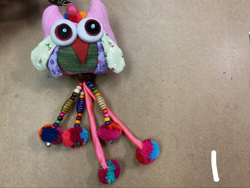 Owl - hanging key - MULTIPLE COLORS