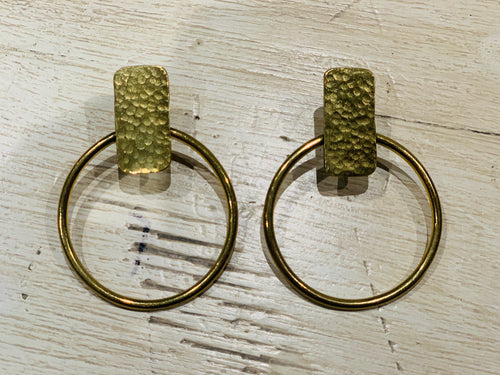 Earrings - brass designer