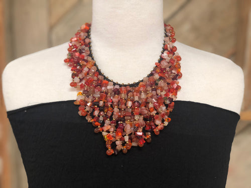 Necklace - stone deluxe statement - MORE COLORS