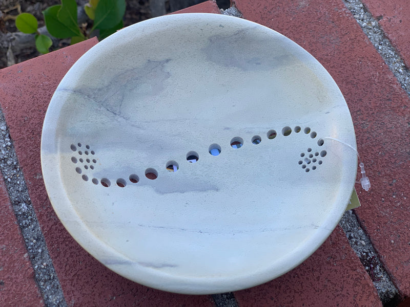 Round bowl - Soapstone drilled