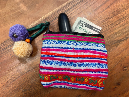 Pom coin purse hilltribe - multiple designs