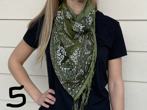 Diamond Flower Scarf - MORE COLORS