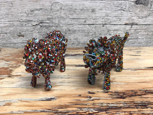 Beaded animals - one of each
