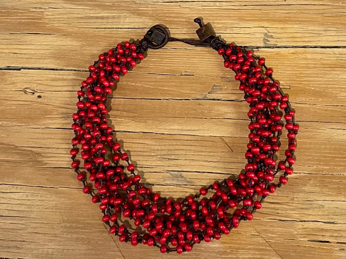 Wood convertible necklace