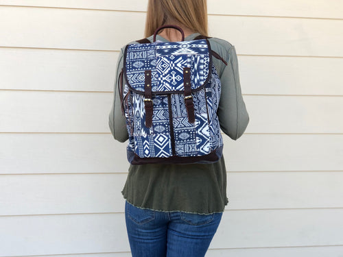 Backpack - MIX - Blue & White