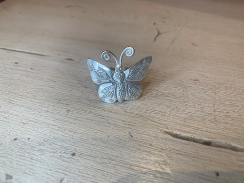 Thai silver butterfly ring