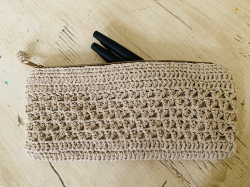 Pencil bag- design hemp