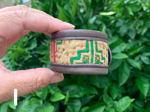 Bracelet - leather and fabric