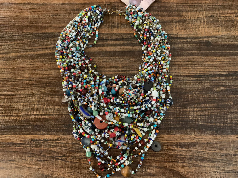 Necklace - Mixed Bead fashion deluxe