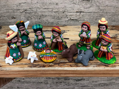 Ceramic Nativity Set Medium