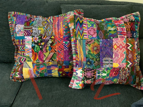 Wipil patch pillow covers - one of each