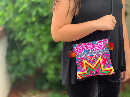 Passport purse - hilltribe embroidered - MORE COLORS