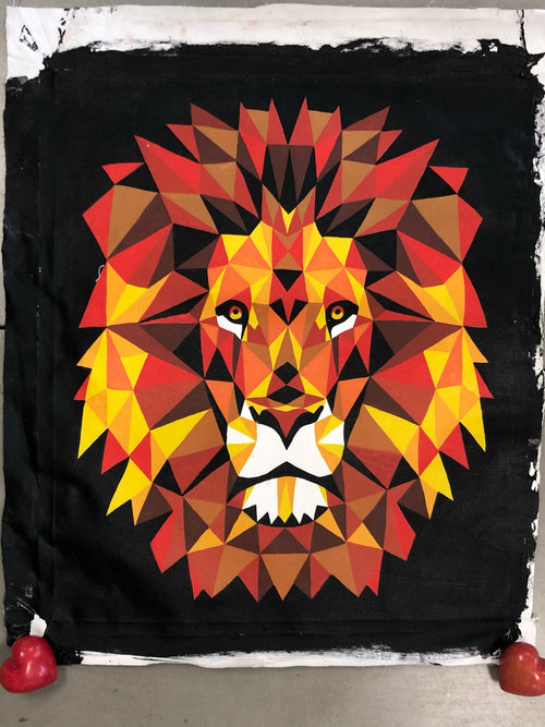 Painting - Lion Geo XL - TWO COLOR OPTIONS