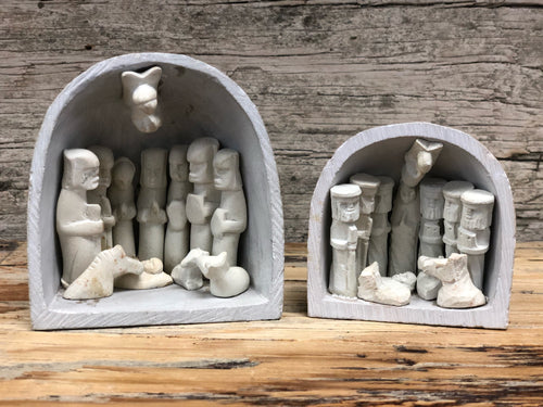 Soapstone Cave Nativity Sets - TWO SIZES