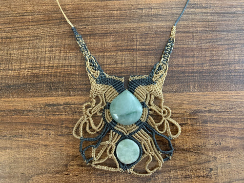 Necklace - Tatted & Jade XL