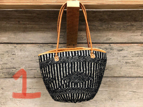 Bucket bag - sisal med