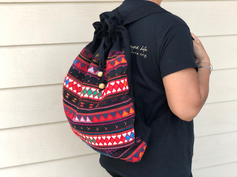 Akha backpack - drawstring
