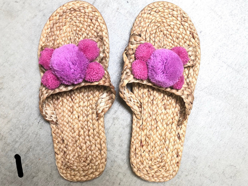 Hyacinth pom pom sandals size 37/38 - Women's 7-7.5