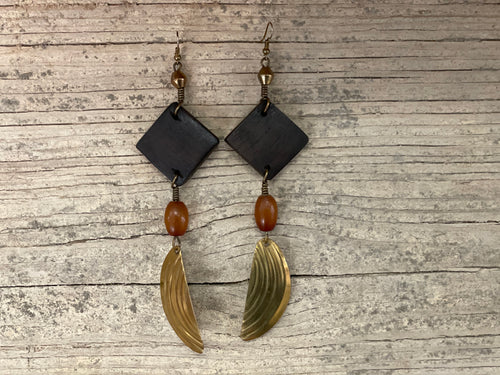 Earrings - brass artsy