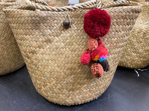 Rattan double walled med purse