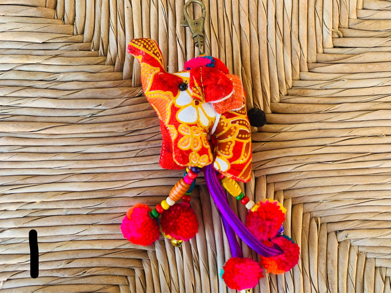 Elephant - hanging key - MULTIPLE COLORS
