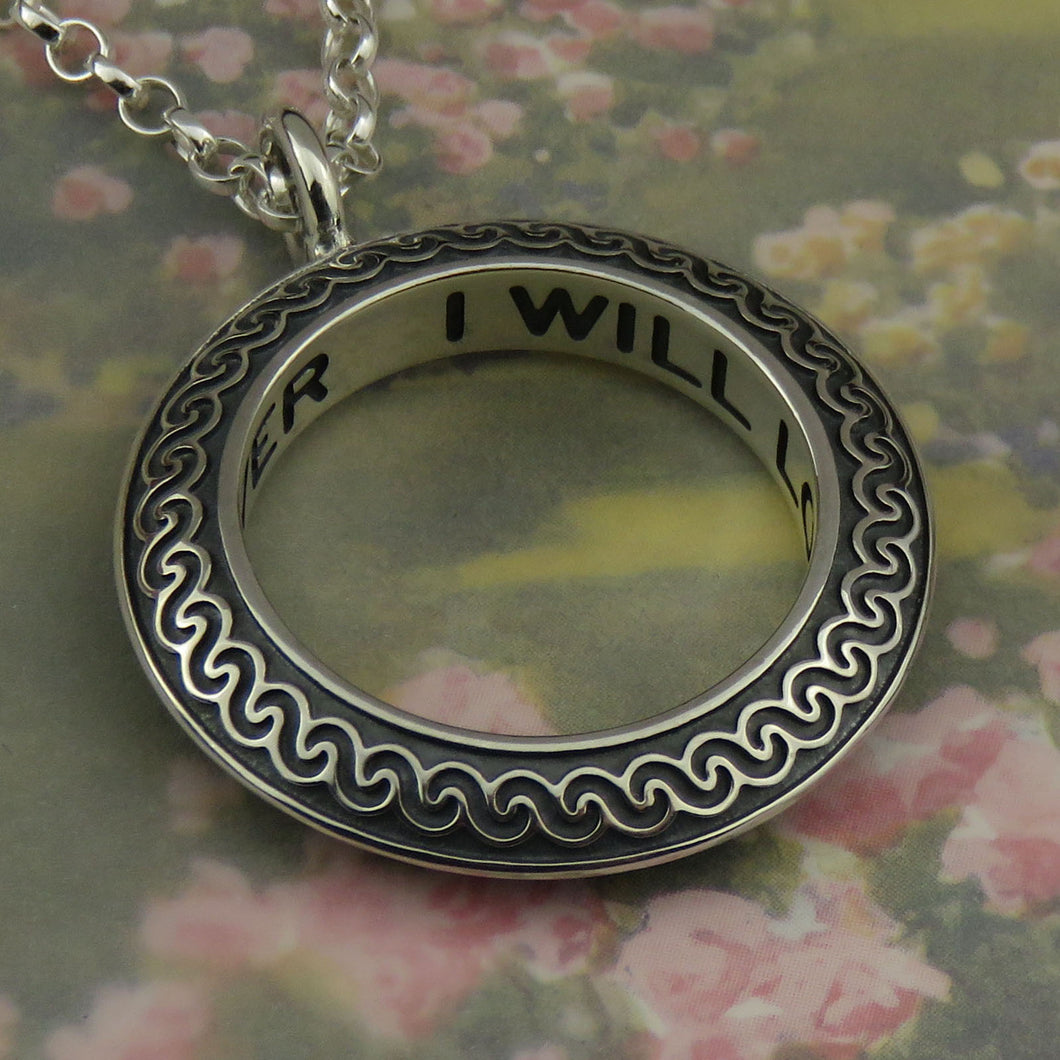 I will love you for ever pendant - 1126P