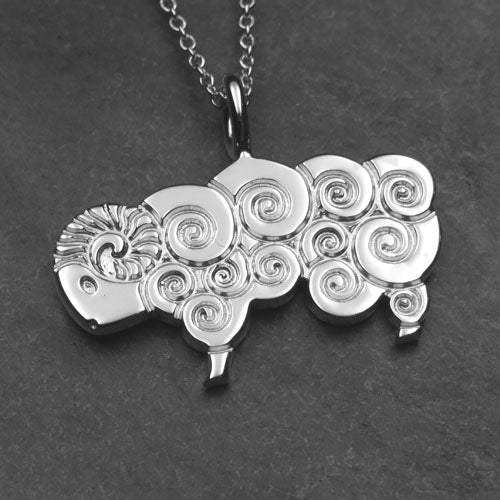 0444P - Curly Sheep Pendant