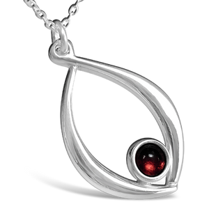 Birthstone Pendant - January (Garnet)