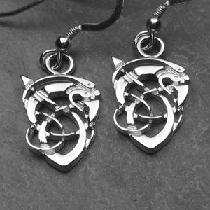 0673ED - Kells Serpent Earrings