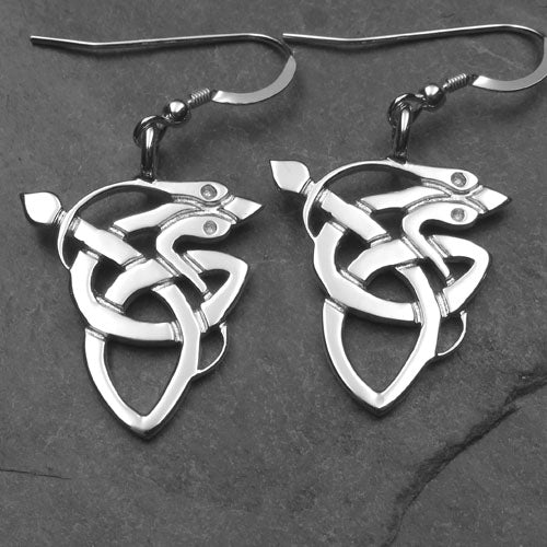 0073ED - Kells Serpent Earrings