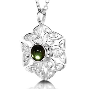 Celtic Knotwork Birthstone Pendant - August (Peridot)