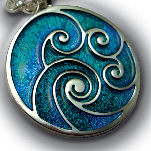 903P - Waves Enamel Pendant