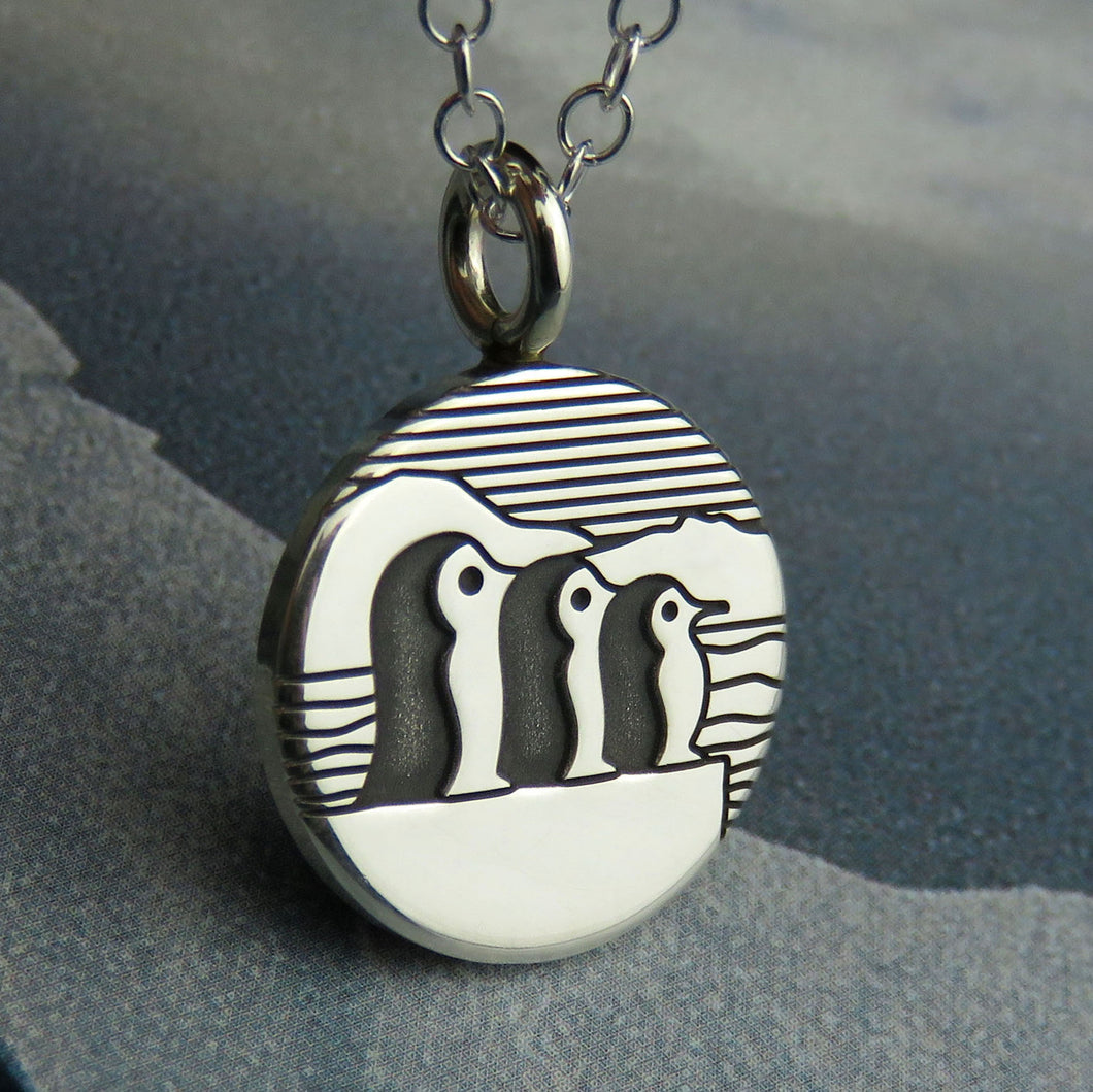 Three Little Penguins Pendant
