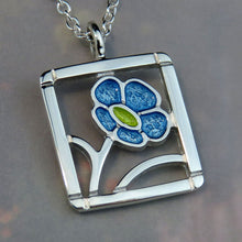 Forget-Me-Not Pendant (square)