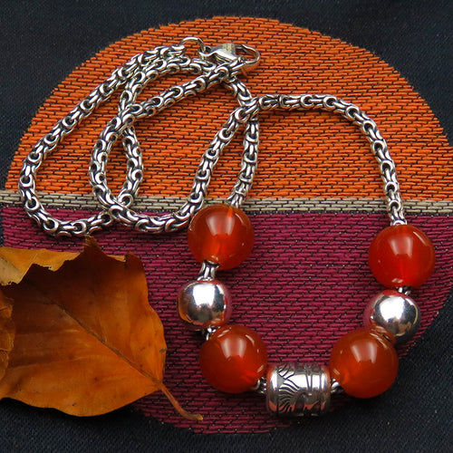 Colours of Autumn necklace