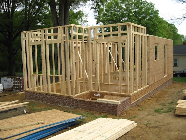 Frame of Habitat for Humanity's Tiny House project