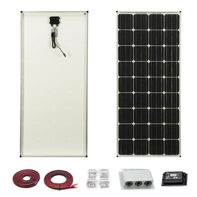 Zamp Solar 160 Watt Deluxe Kit USA Made for Off-Grid Tiny Houses or RV's