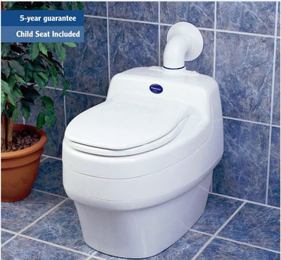Composting Toilet - Separett Villa 9200 Waterless Composting Toilet AC