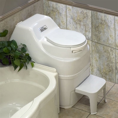 Sun-Mar EXCEL Composting Toilet - Electric High Capacity - Installed in Bathroom