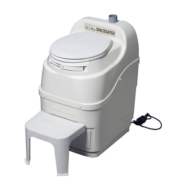 Sun-Mar Spacesaver Composting Toilet - Electric - White