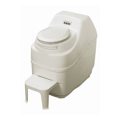 Sun-Mar EXCEL Composting Toilet - Electric High Capacity - Bone