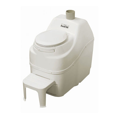 Sun-Mar EXCEL NE Composting Toilet - Non-Electric - Bone