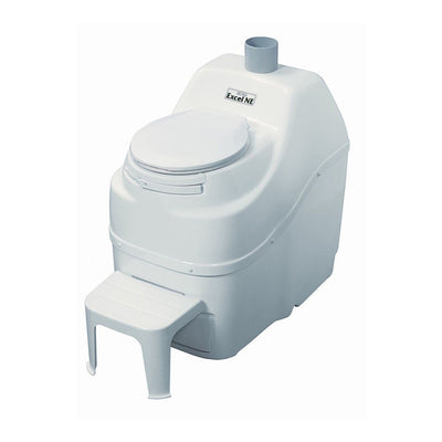 Sun-Mar EXCEL NE Composting Toilet - Non-Electric - White