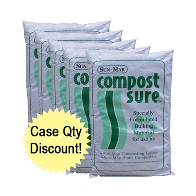 Sun-Mar's Compost Sure Bulking Material - Green (case of 5) | Tiny Houses Inside