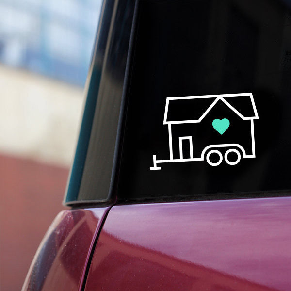 Tiny House Love Clear Vinyl Sticker | Tiny Houses Inside