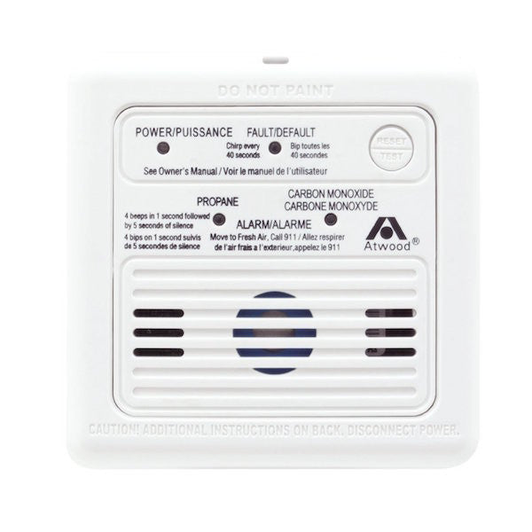 Trailer Accessories - Atwood Dual LP/CO Propane / Carbon Monoxide Alarm Detector