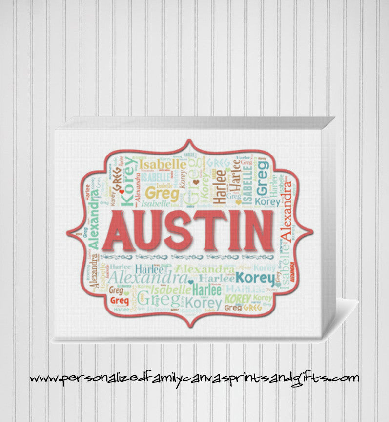 Personalized Parentheses Frame Family Word Art Print (Available in ...