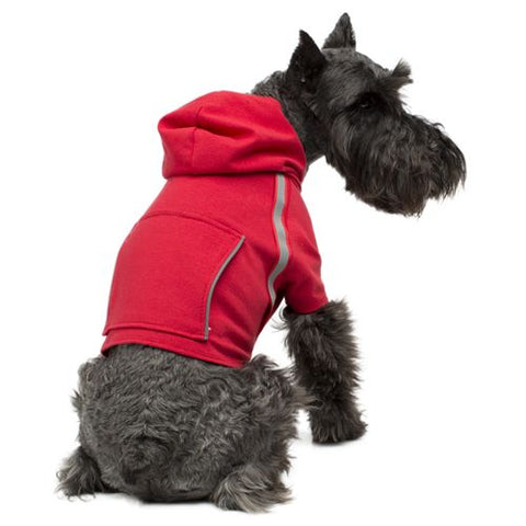Reflective Dog Hoodie, Red