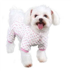 Pooch Outfitters Elephant Pajamas In Pink