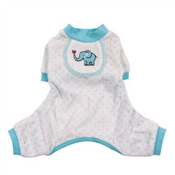 Pooch Outfitters Elephant Pajamas In Blue